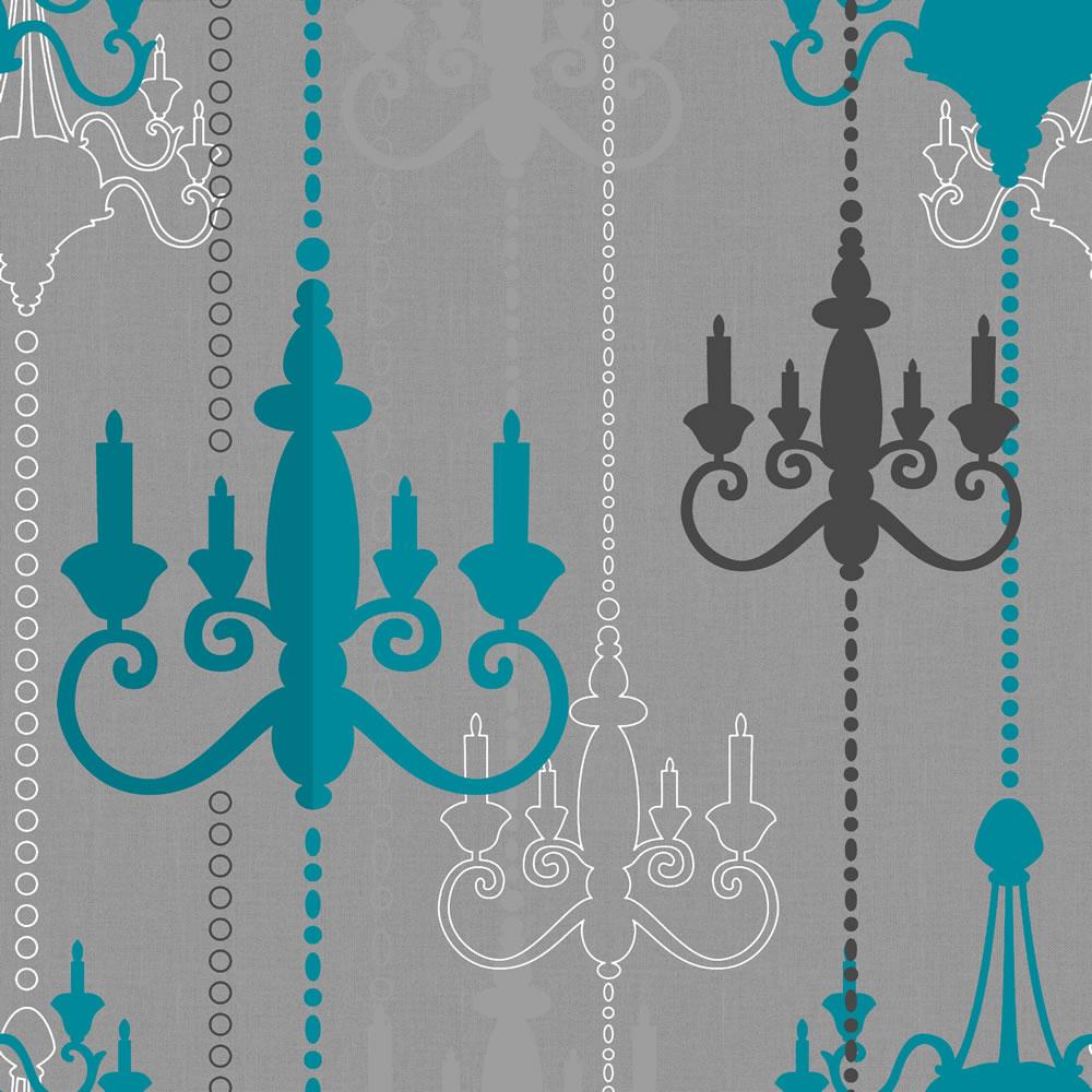 download Wilko Chandelier Wallpaper TealGrey WP332112 at 1000x1000