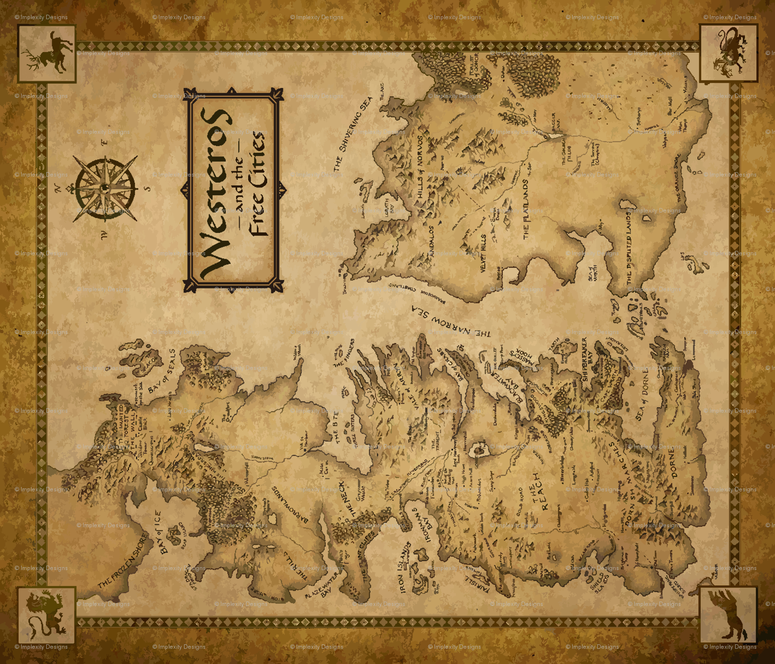 graphic relating to Printable Map of Westeros titled 42+] Westeros Wallpaper upon WallpaperSafari
