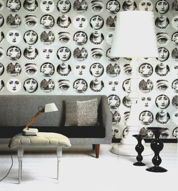 Pep Up Your Walls with Fornasetti Wallpapers 600x644