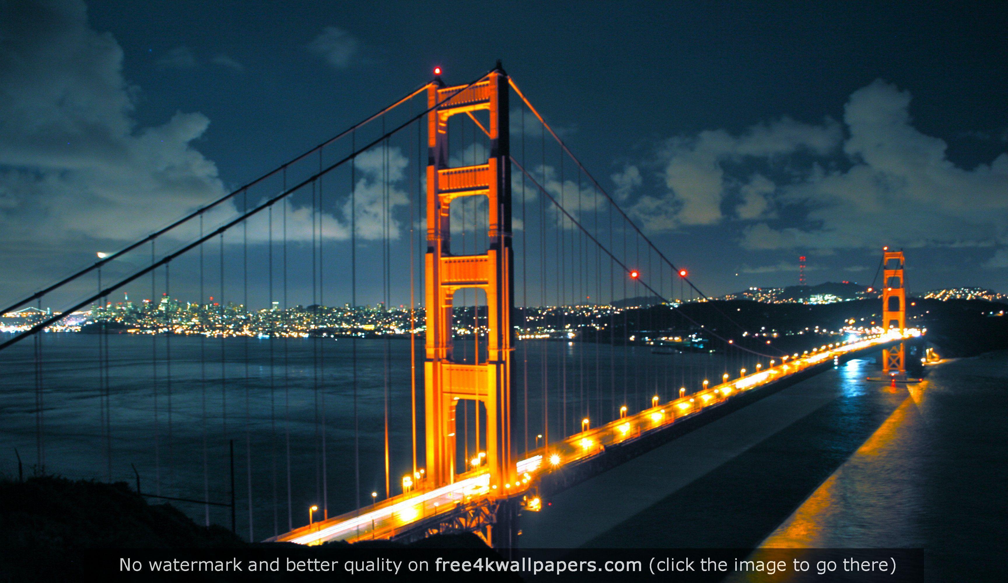 Golden Gate Bridge HD WideScreen Wallpaper Edit 3456x1999