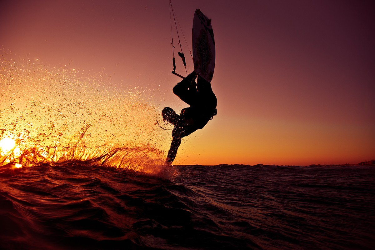 Wakeboarding Sunset Wallpaper Wakeboard sunset wallpaper 1200x800