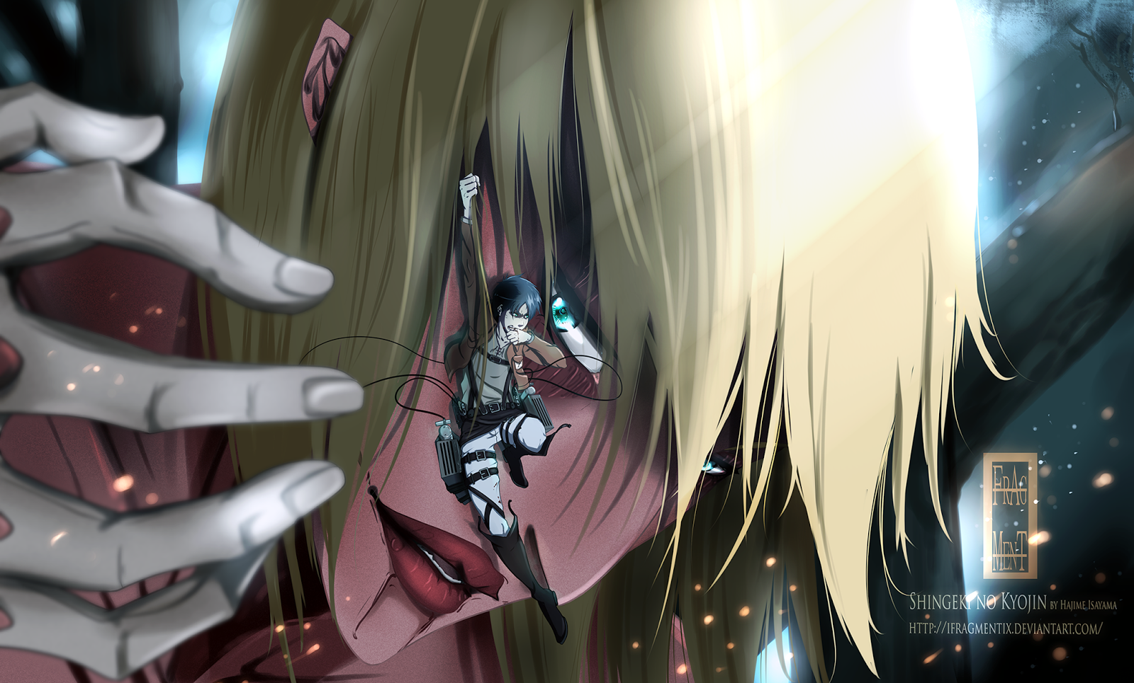 Female Titan Annie Leonhardt Eren Jaeger Attack on Titan Shingeki no 1600x965