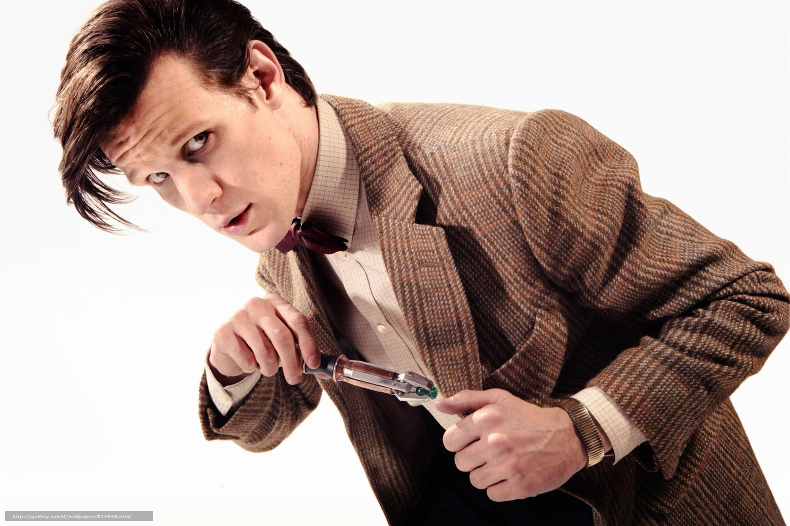 Download wallpaper Matt Smith man white background 1600x1066