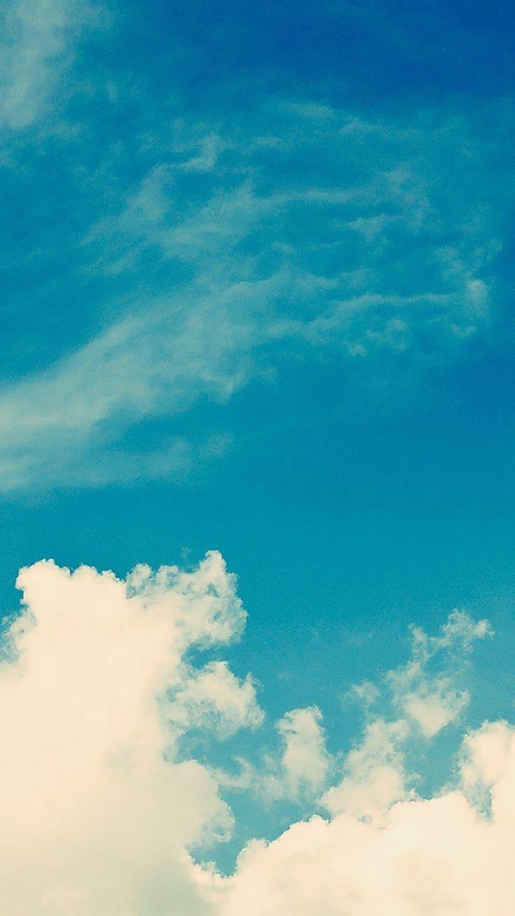 White Vintage Clouds Blu Sky iPhone 6 Plus HD Wallpaper iPhone 6 6 736x1308