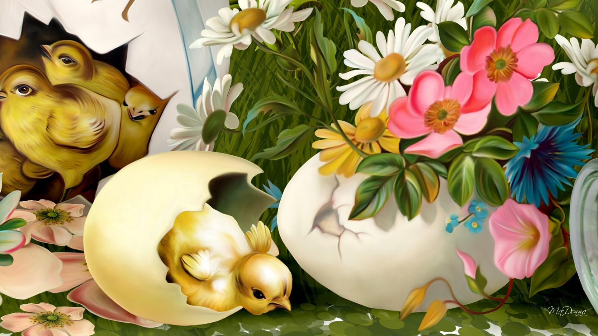 Easter Happening Painting Hd Wallpaper Wallpaper List 1920x1080