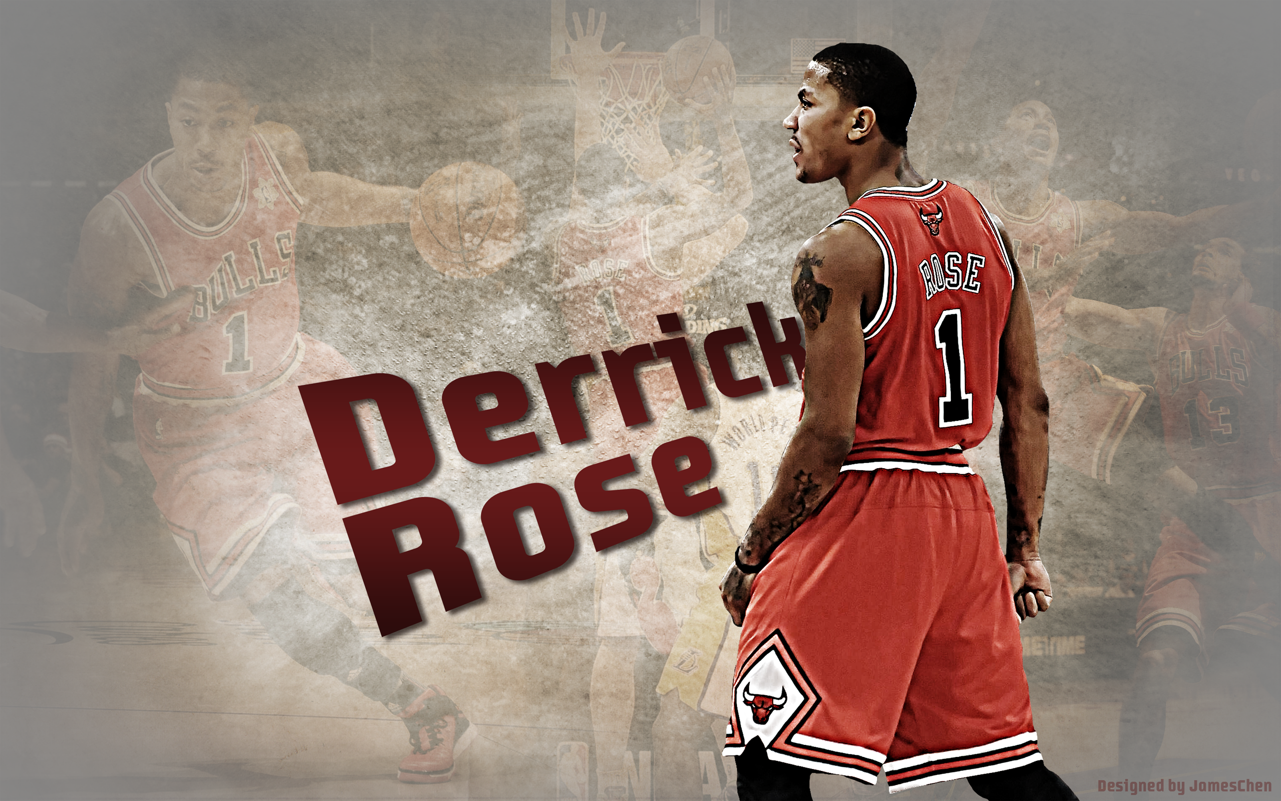 Derrick Rose Chicago Bulls   Download Wallpaper 2560x1600