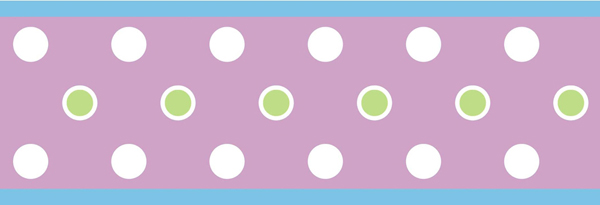 Purple Dot Peel Stick Border Dots All Kids Kids Wall 600x205
