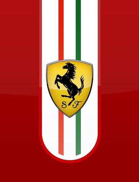 Glossy Ferrari Logo Wallpaper for Amazon Kindle Fire HD 7 450x590