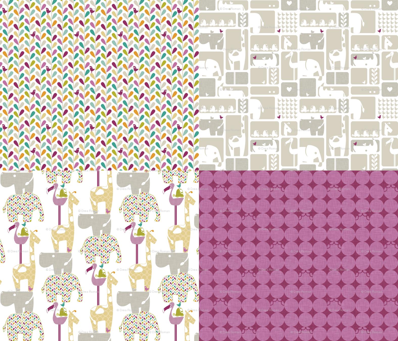 Elephant Skin Print Fabric Hippo fabric wallpaper gift 1575x1350