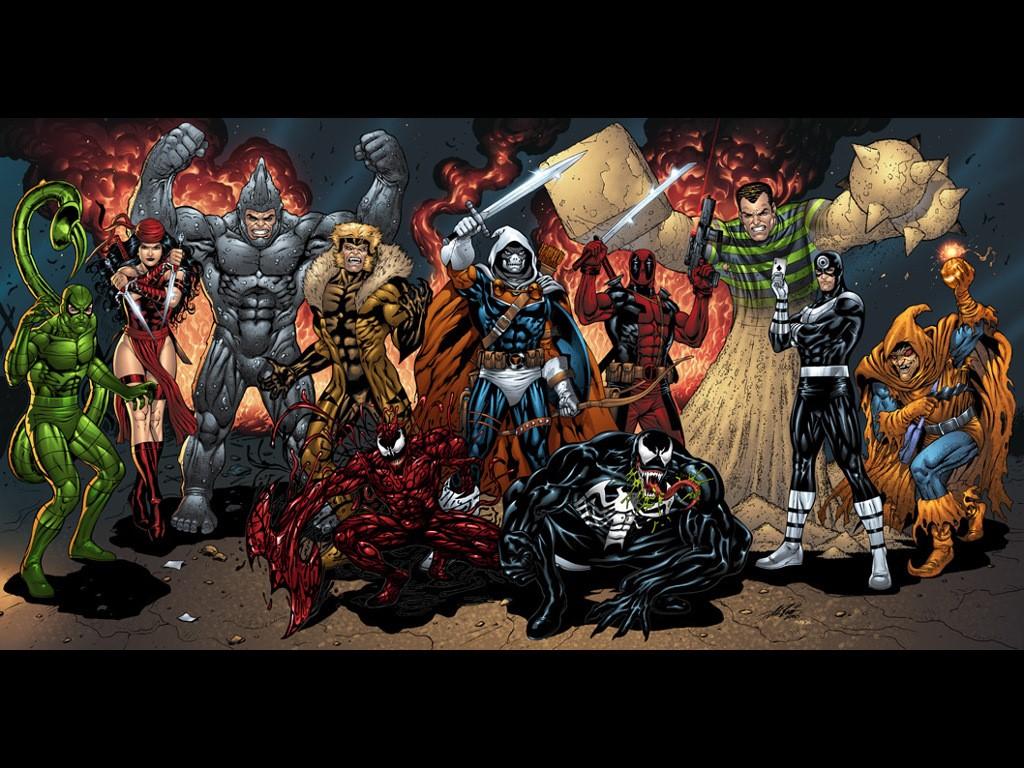 Venom Carnage Wallpaper 1024x768 Venom Carnage Elektra Deadpool 1024x768