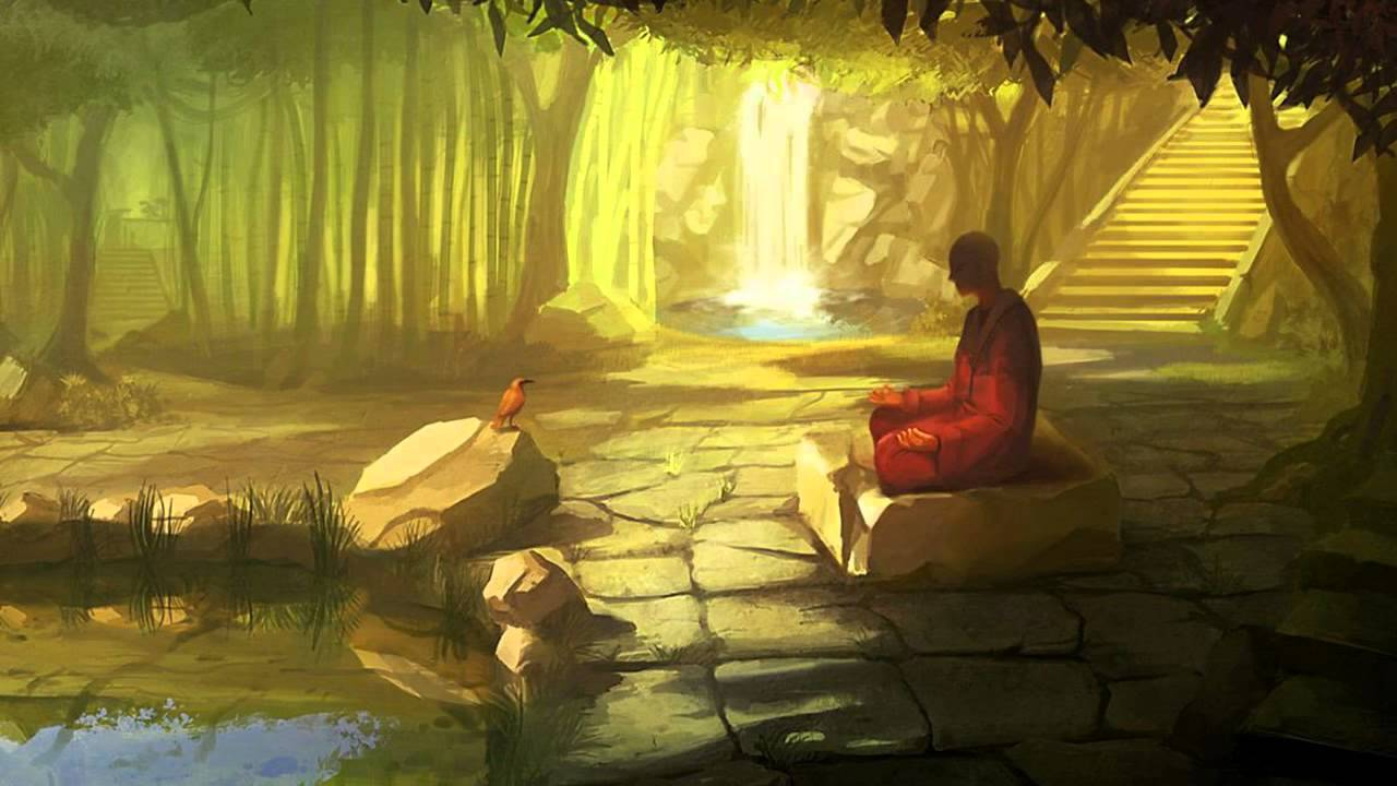 Meditation Music Meditating Buddhist With Peaceful Wallpapers 1280x720