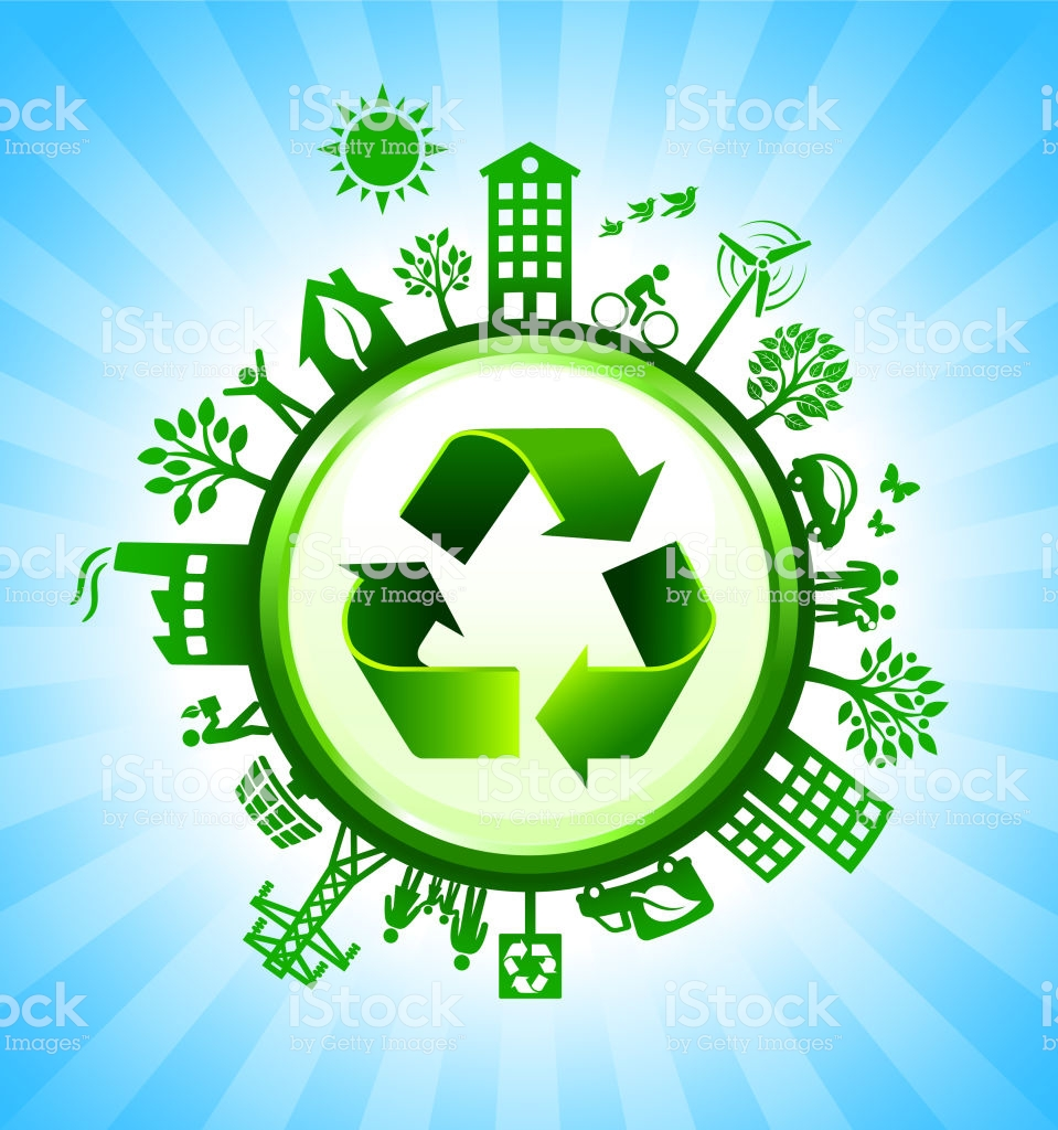 Recycling Sign On Green Environmental Conservation Background 959x1024