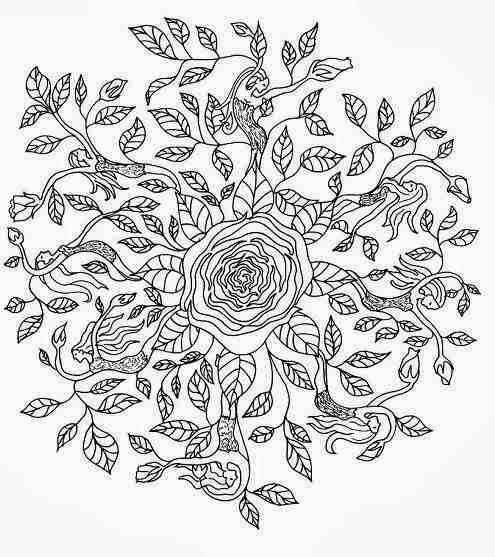 elf mandala coloring beautifull wallpaper rose elf mandala coloring 495x557