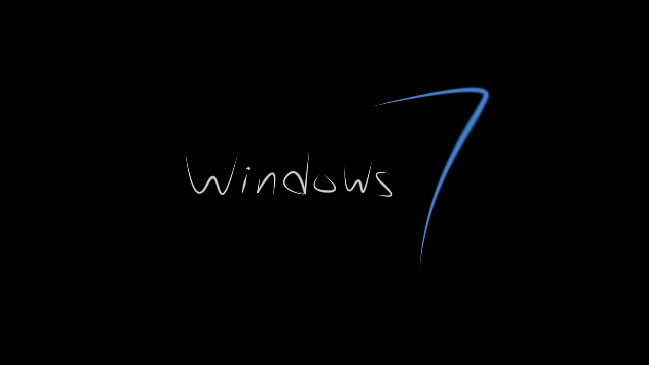 Windows 7microsoftbackgroundwallpaperblack   photo from 1280x720