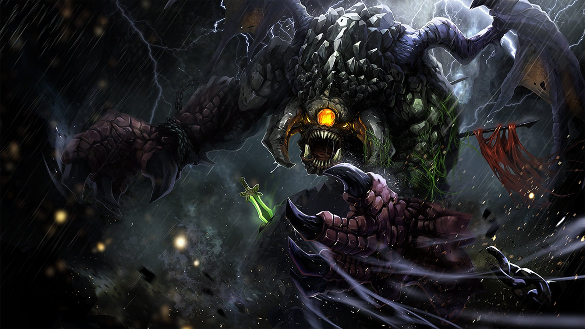 dota 2 game roshan epic hd 1920x1080 1080p wallpaper and compatible 1920x1080