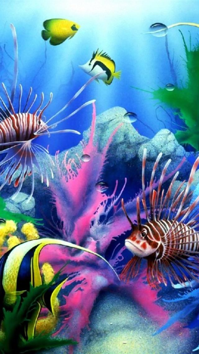 Free Download Cool Underwater World Iphone 5 Hd Wallpaper