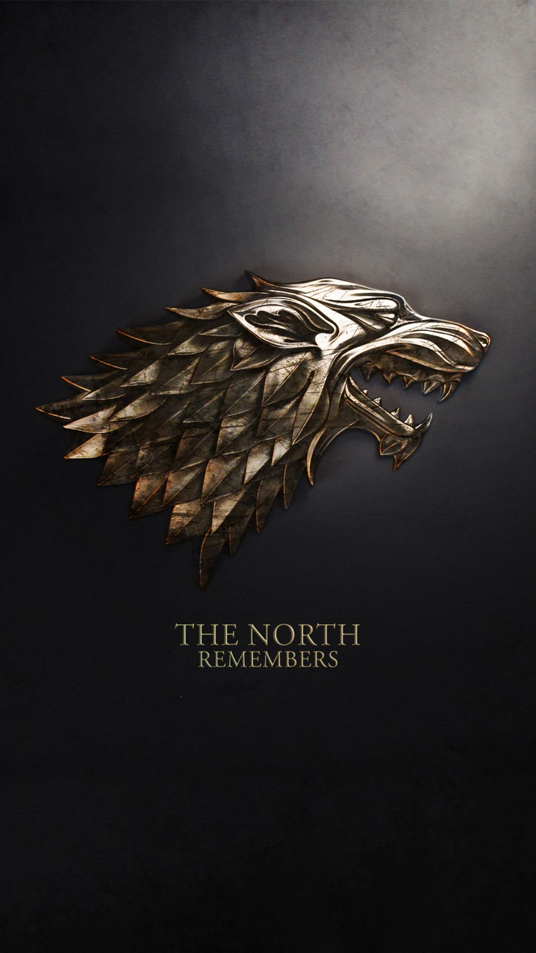 Stark Wolf family emblem coat of arms The North Remembers from 1080x1920