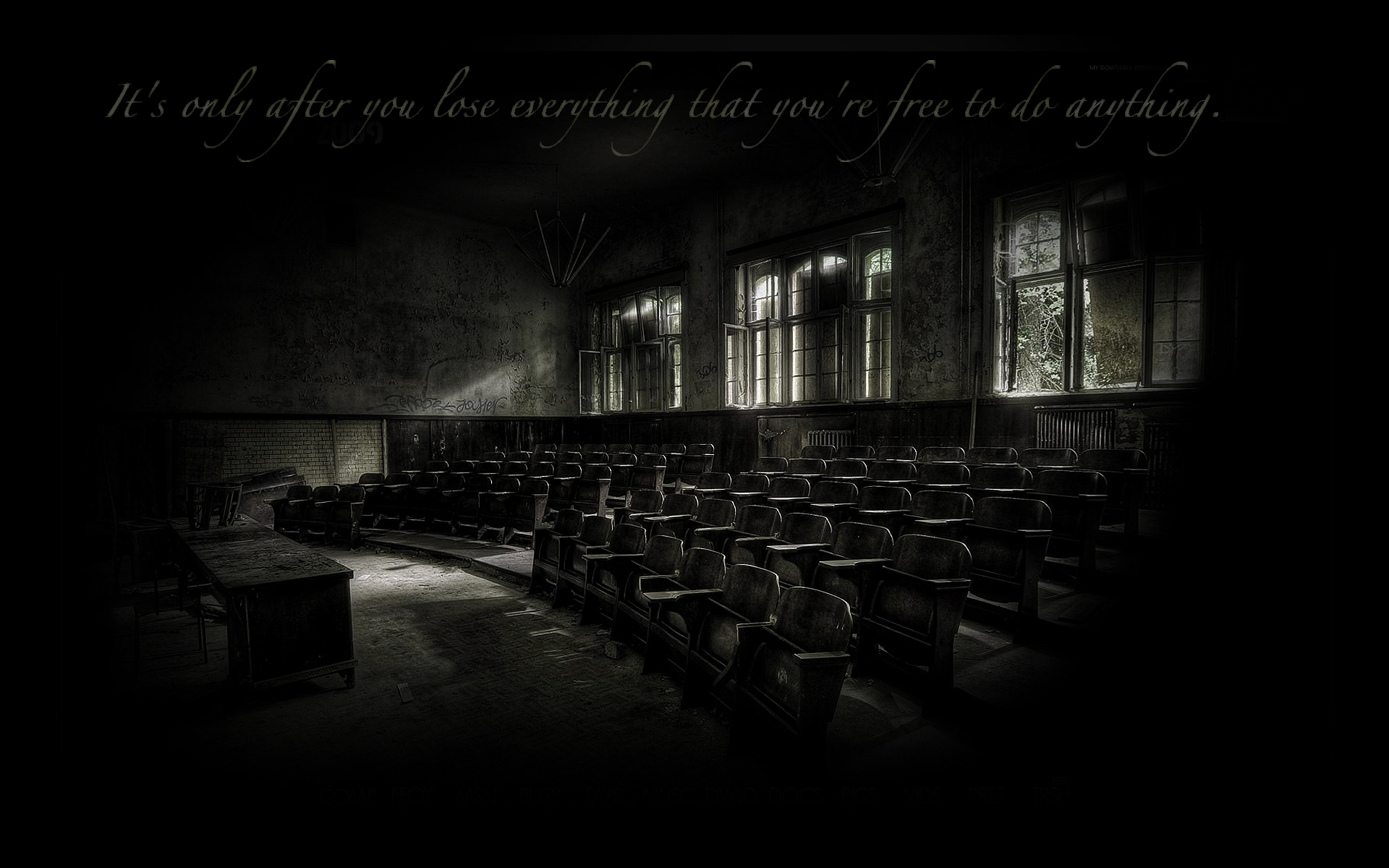 quotes lecture hall Chuck Palahniuk Wallpapers 1920x1200