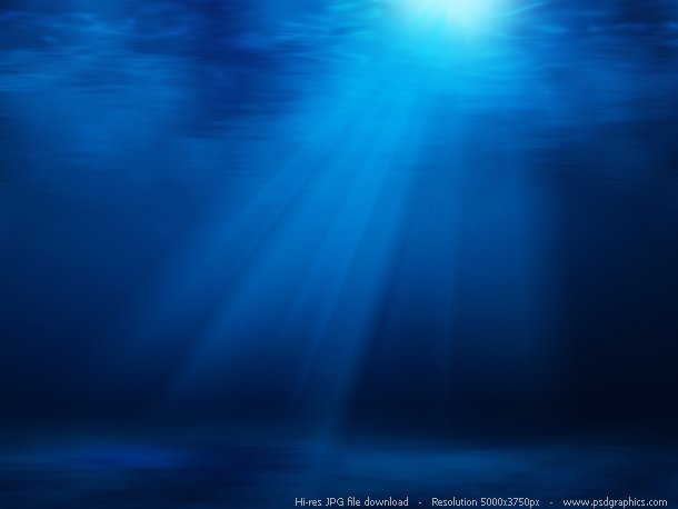 ... waves, hi-res background. Deep blue tropical underwater paradise