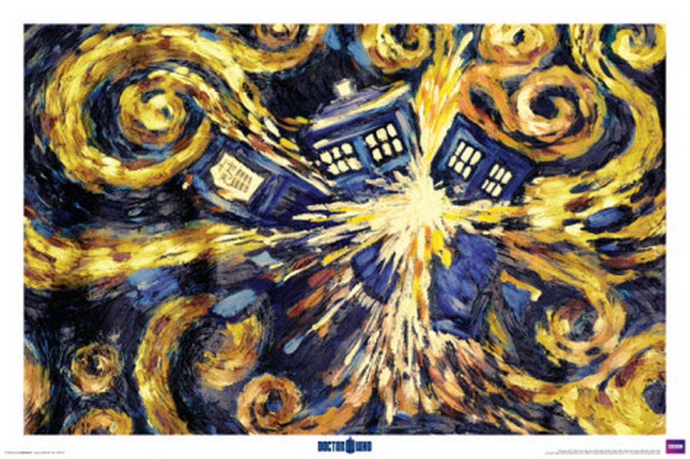 doctor who exploding tardis van gogh Inspiration Pinterest 1400x932