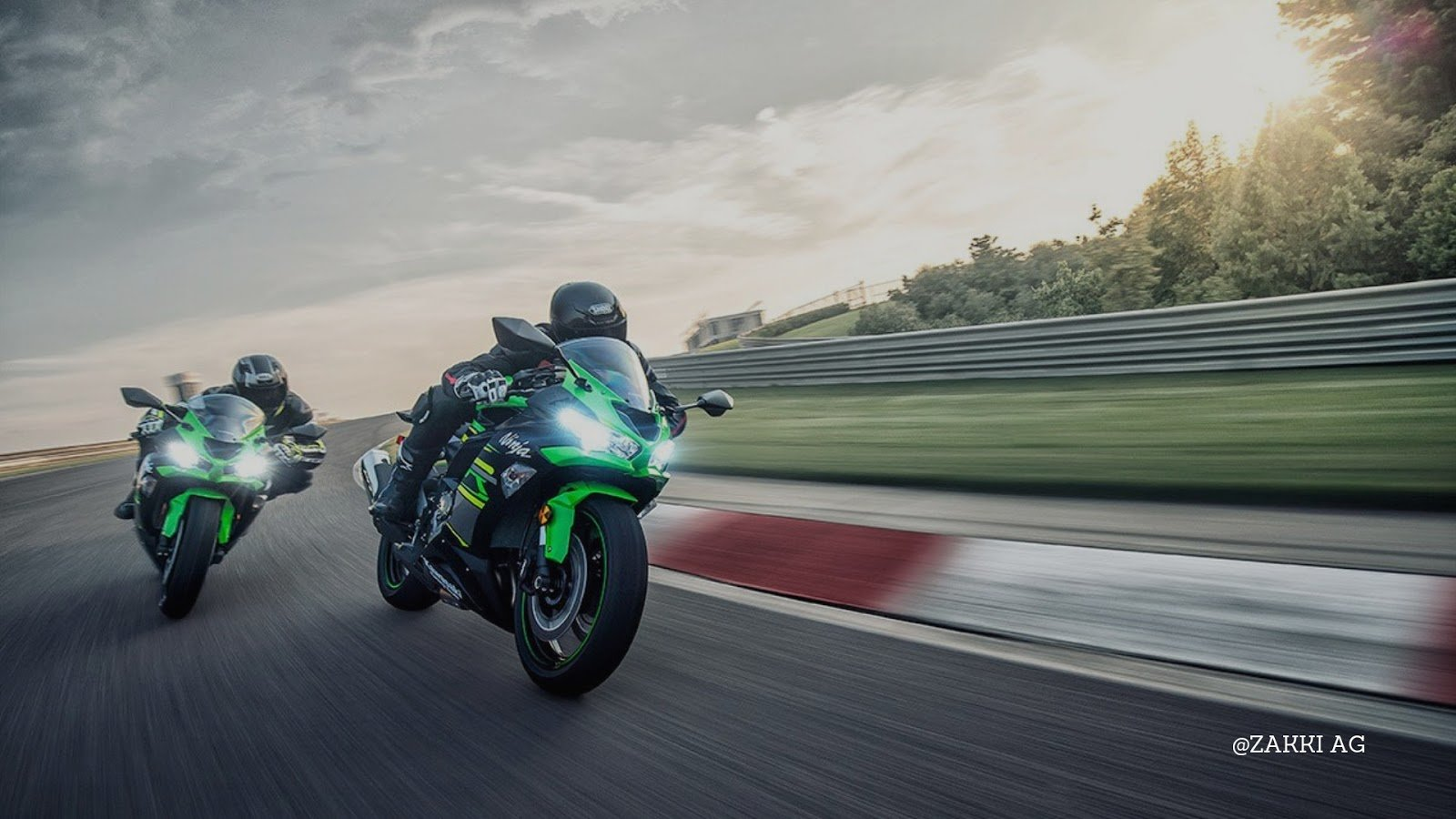ZAKKI AG WALLPAPER KAWASAKI NINJA ZX 6R ABS KRT EDITION   ALL NEW 1600x900