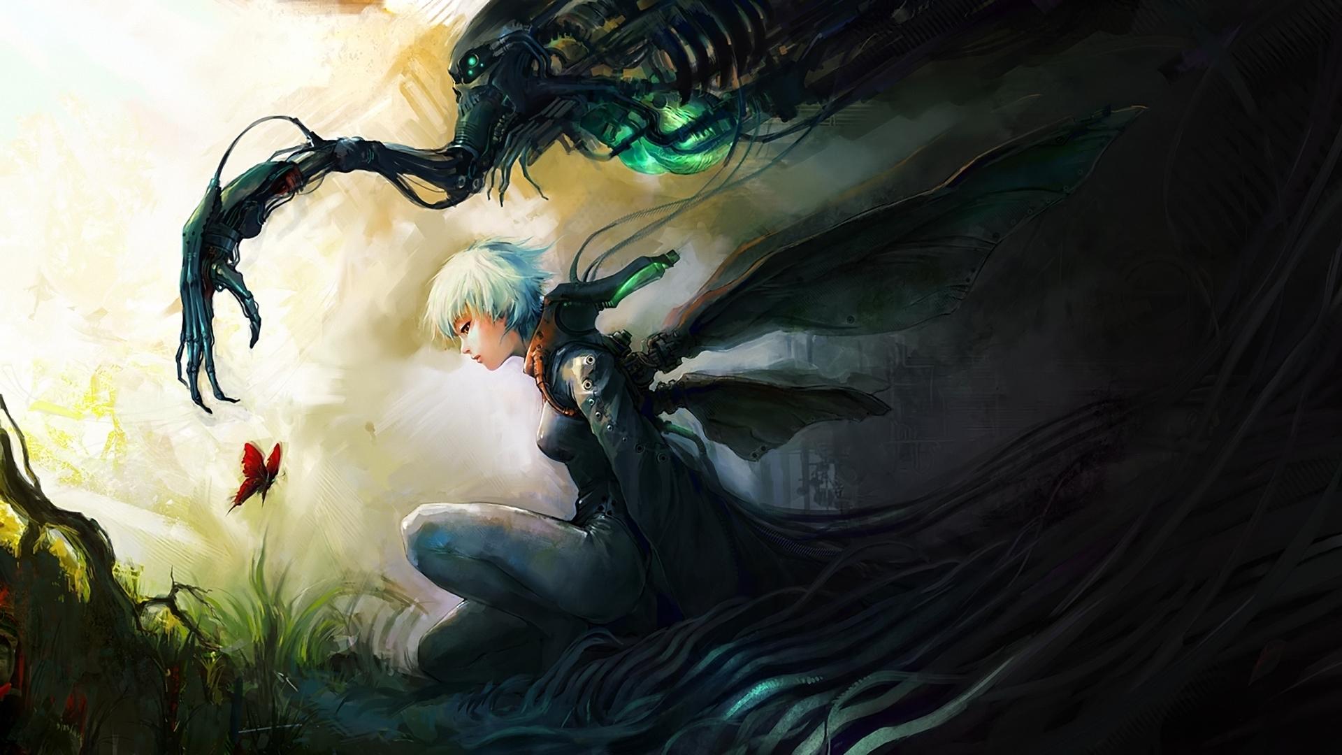 Airbrushing anime fantasy cg digital art wallpaper background 1920x1080