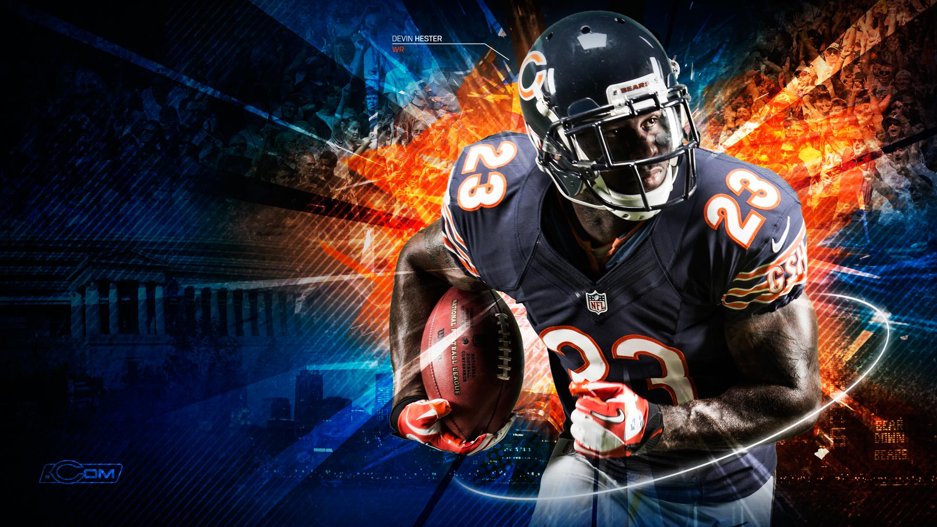 wallpaper fan wallpapers bears chicago hester images 1920x1080
