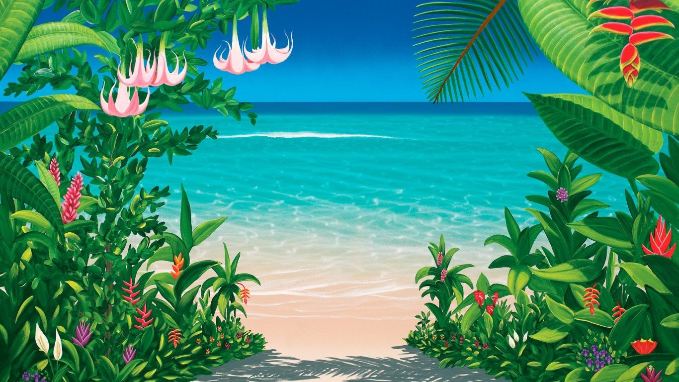 Free Download 70 Tropical Floral Desktop Wallpapers Download At