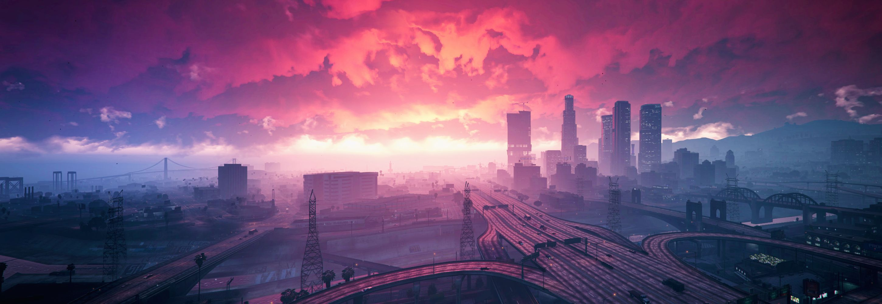 A gorgeous morning in Los Santos Cool pics Grand Theft Auto 2899x1000
