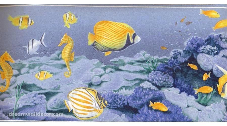 Home Under Sea Fish World Wallpaper Border 900x500