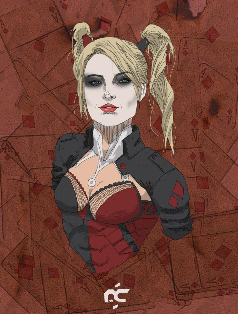 Harley Quinn Margot Robbie by Ptratux 757x1000