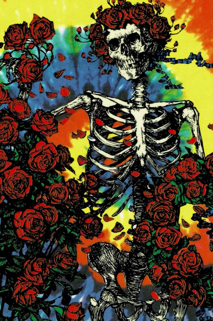 Grateful Dead Tie Dye Bertha Sticker Grateful dead wallpaper 701x1053