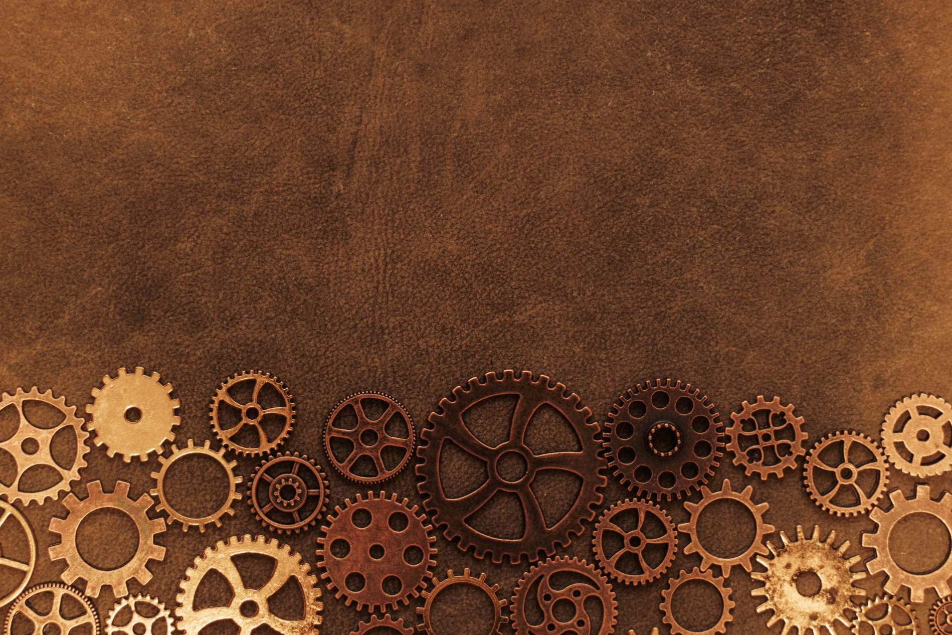 Vintage Brown Steampunk Gears Background   PhotoHDX 1899x1266
