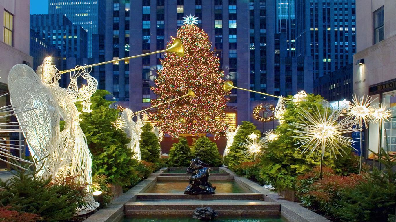 The Christmas Tree In New York City