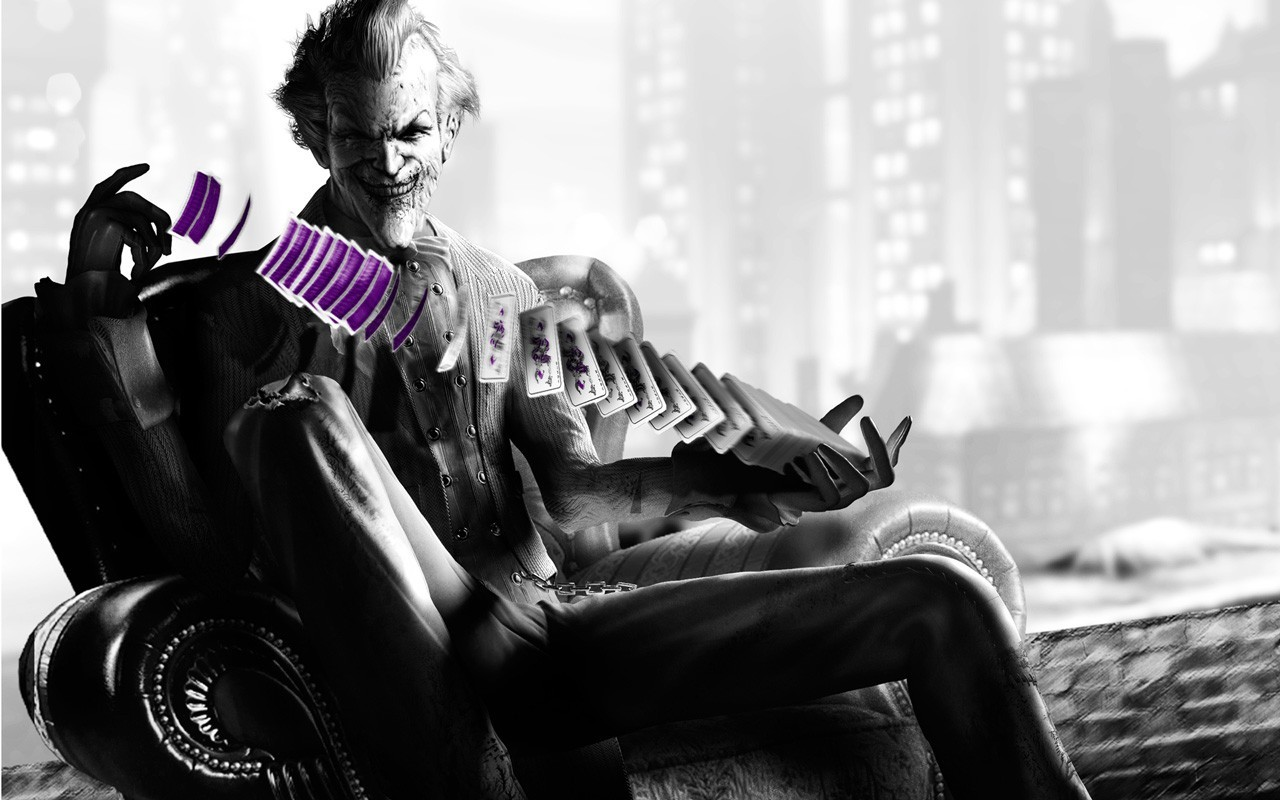 Batman the joker arkham asylum city wallpaper 1280x800