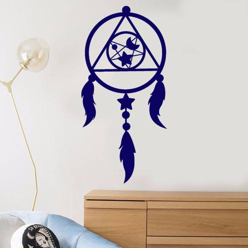 SLICKWRAPS Medium Dreamcatcher Moon Star Wall Decal for Home 832x832