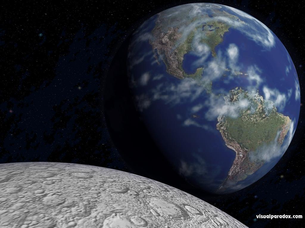 3D Wallpaper Earth Rise 1024x768 1024x768