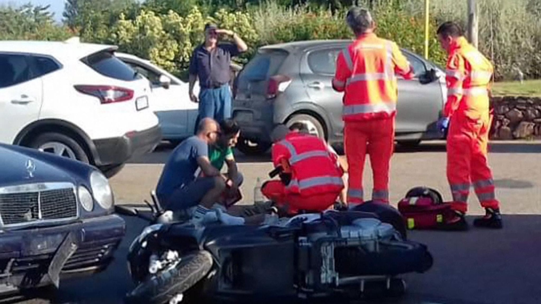 George Clooney crash Driver says he had sun in his eyes Ents 2048x1152