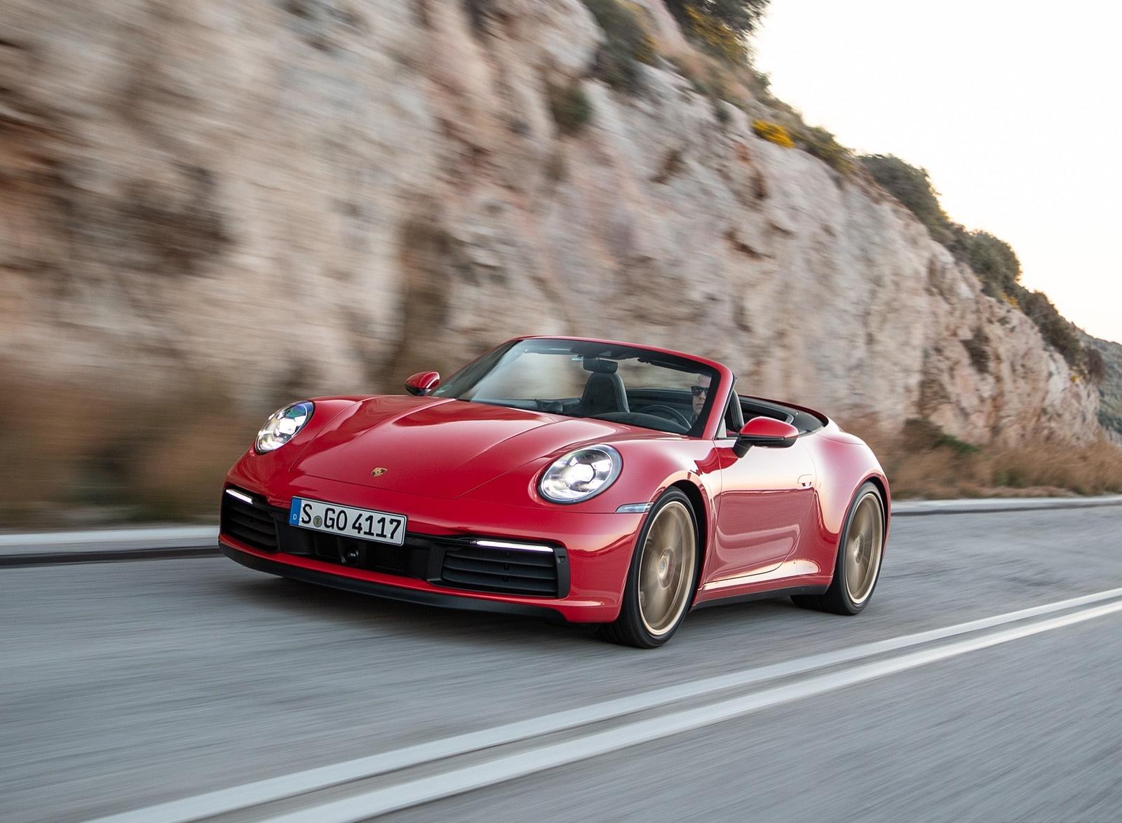 2020 Porsche 911 Carrera 4S Cabriolet Color India Red Front 1600x1174