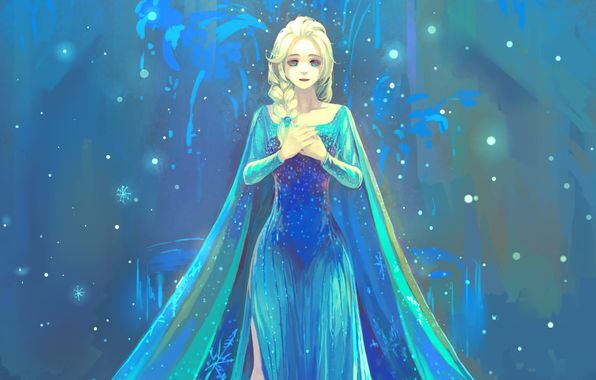 frozen elsa elsa girl dress art wallpapers photos pictures 596x380