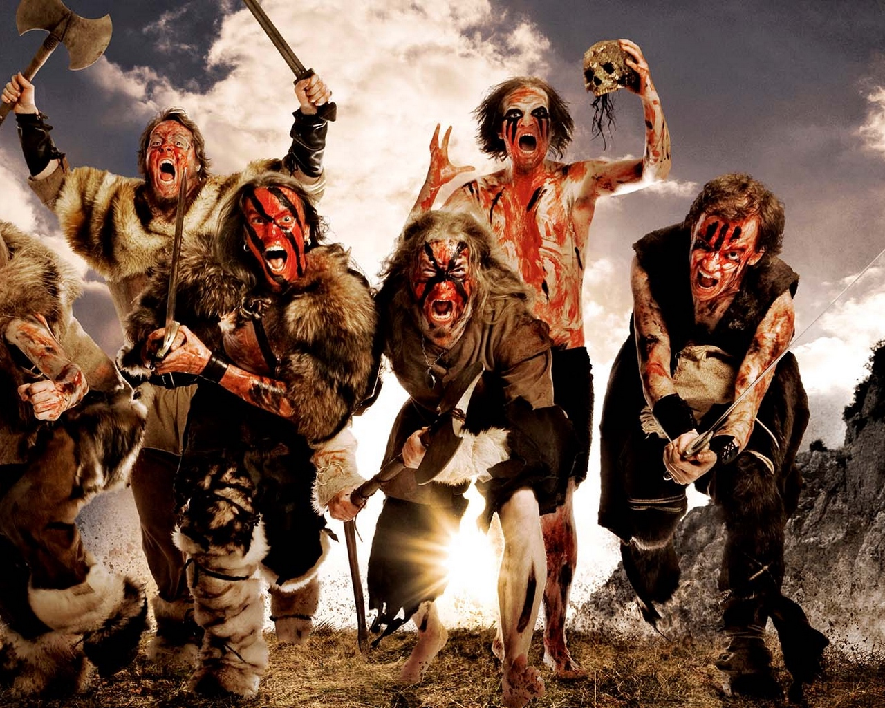 Download wallpaper 1280x1024 turisas arm skull image scream 1280x1024