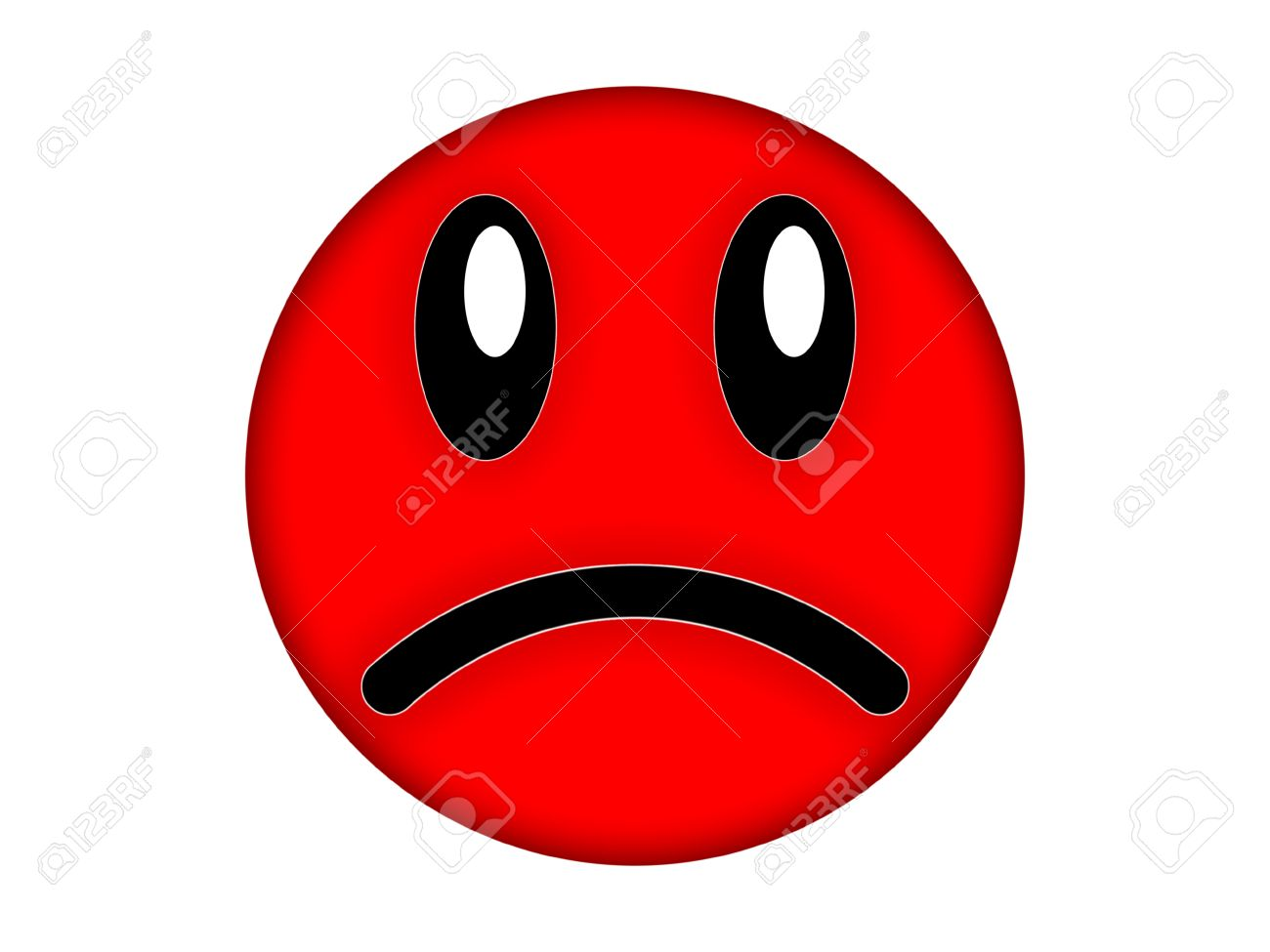 Red Angry Face On A White Background Stock Photo Picture And 1300x975