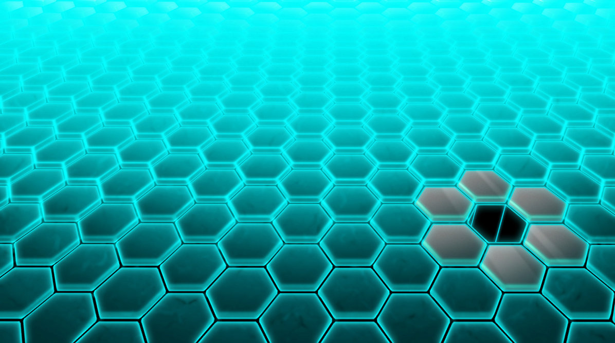 download Hive Tech Wallpaper Blue by Aexease [1196x667] for 1196x667
