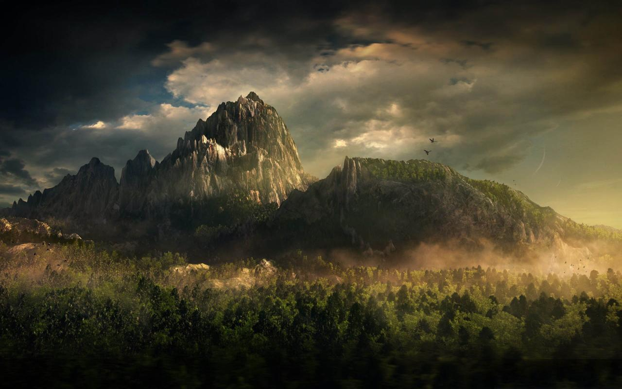 Wallpapers 3d Great Mountain Landscape Backgrounds 3d Great Mountain 1280x800