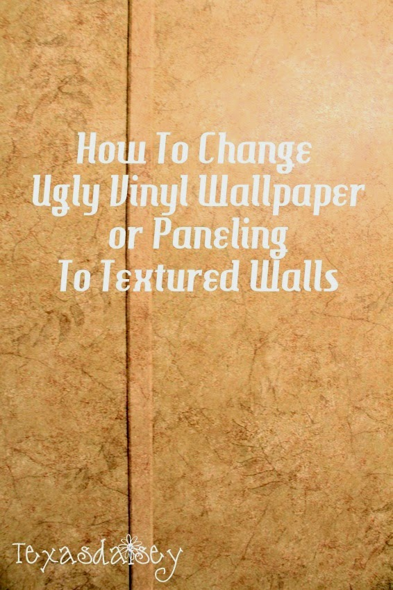 learn how to change ugly vinyl wallpaper or paneling to textured walls 566x850