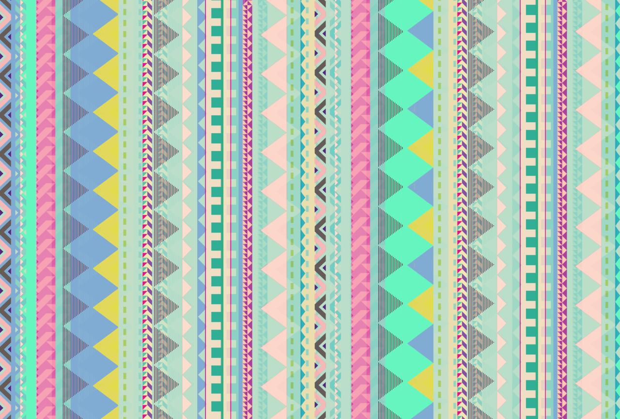 VASARE NAR ILLUSTRATION PORTFOLIO   Pastel Aztec pattern 1280x865