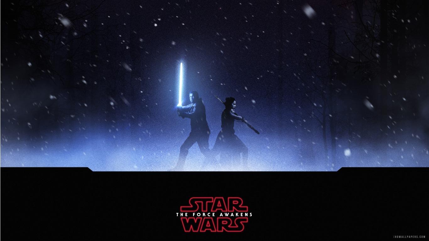 Finn Rey Star Wars The Force Awakens HD Wallpaper   iHD Wallpapers 1366x768