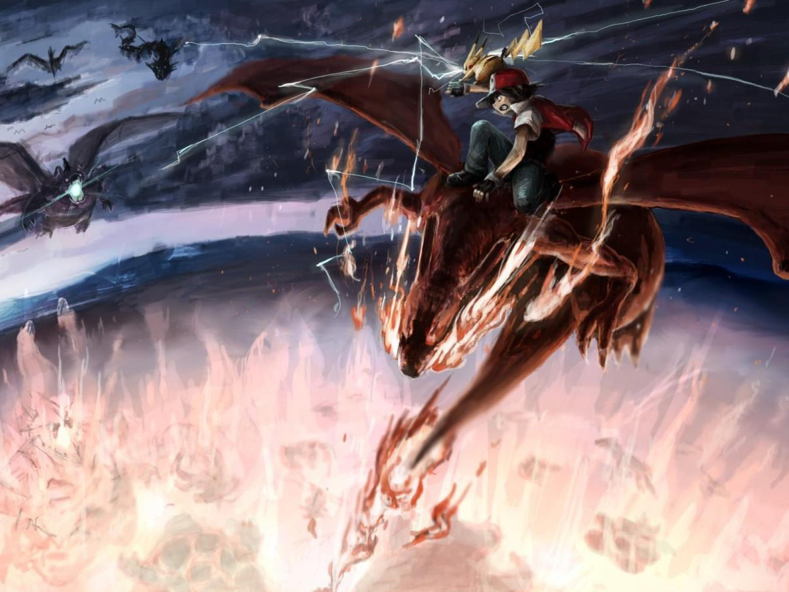 Charizard Gyarados Fearow Dragonite Pokemon Ash ketchum 1600x1200
