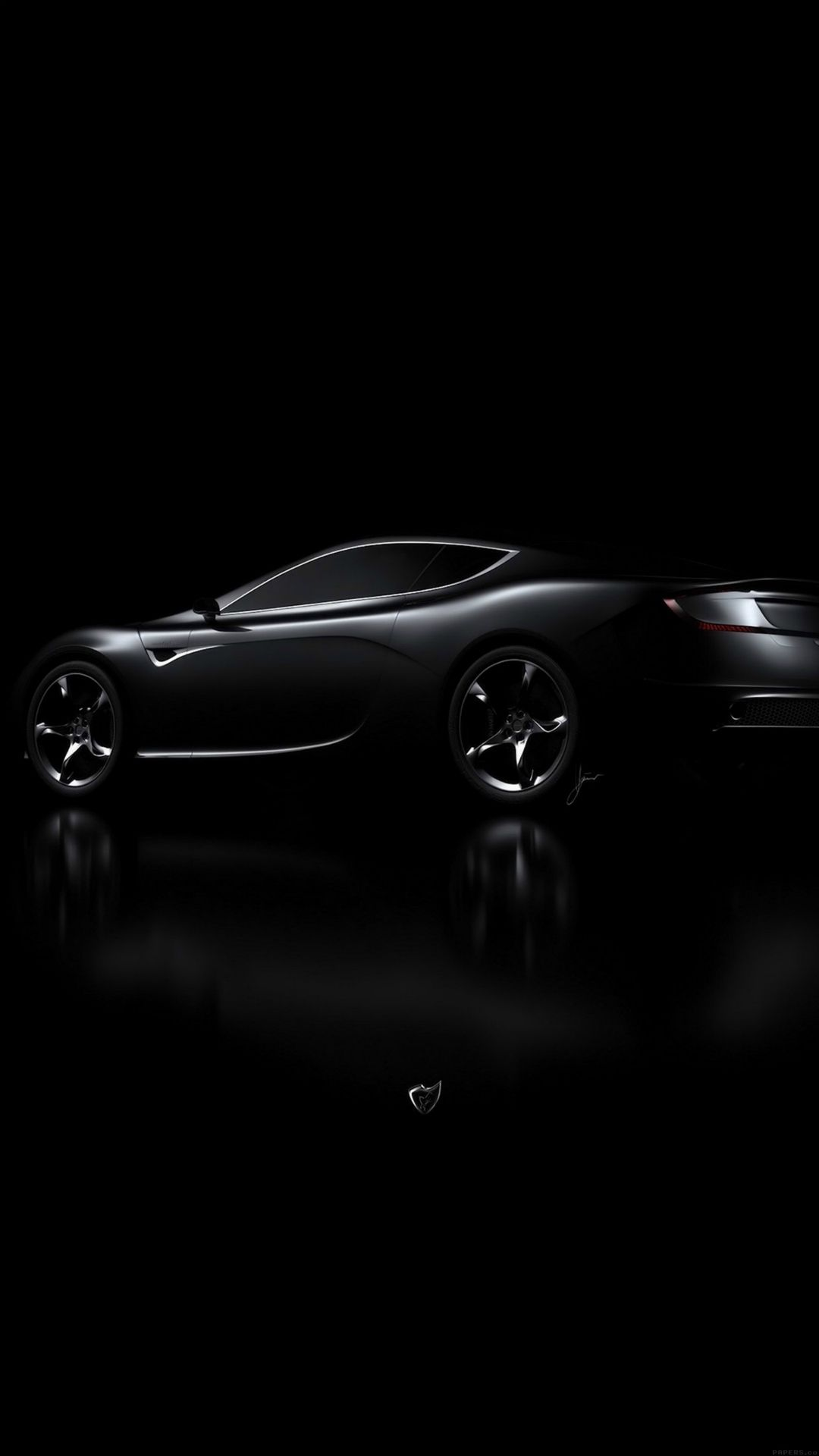 Aston Martin Black Car Dark iPhone 6 Wallpaper Download iPhone 1080x1920