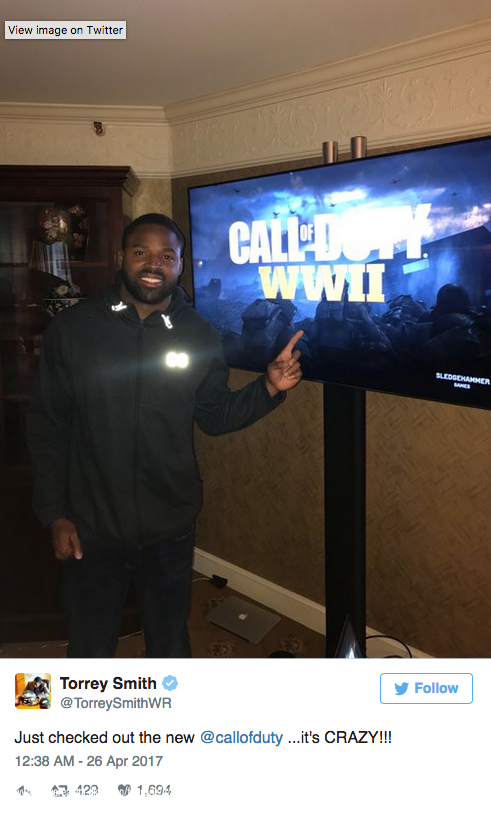 Bilder p NFL stjrnan Torrey Smith om nya Call of Duty 491x813